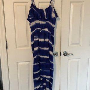 Light and satin summer dress